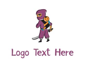 Kids - Ninja & Kid logo design