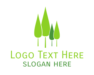 Forest - Pine Tree Forest logo design
