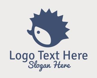 Caterpillar - Blue Hedgehog Mascot  logo design