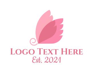Kids Apparel - Butterfly Feminine logo design