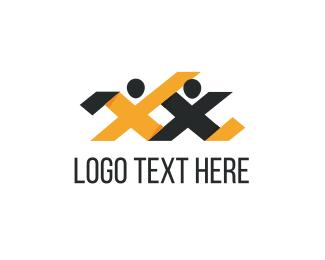 Human Resources - Letter X Couple logo design