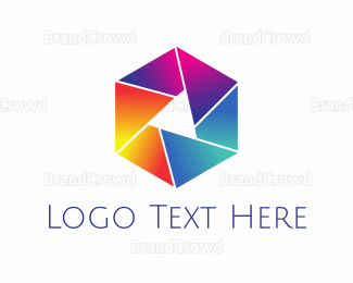 Orange And Purple - Colorful Lens logo design