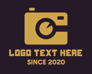 Camera Lens - Simple Gold Camera logo design
