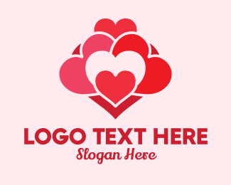 Hearts - Love Heart Pattern  logo design