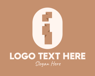 Indigenous - Brown Ethnic Letter I logo design