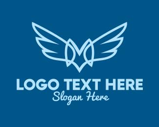Letter - Wings Letter M logo design