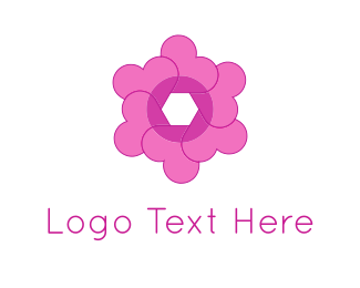 Photo - Heart Flower logo design
