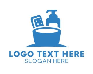 Lotion - Blue Liquid Soap & Sanitizer logo design