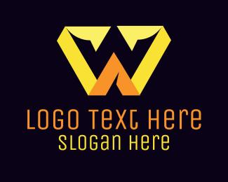 Yellow Crown - W Yellow Crown  logo design