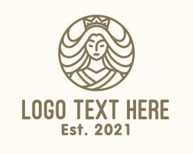 Maiden - Minimalist Beautiful Princess logo design