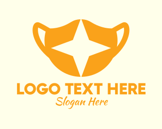 Surgical Mask - Star Face Mask logo design