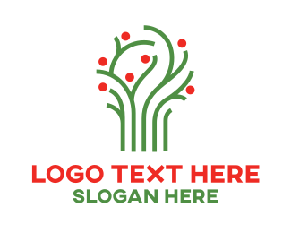 Therapy - Green Vine Tree logo design