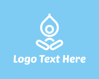 Pilates - Yoga Drop logo design