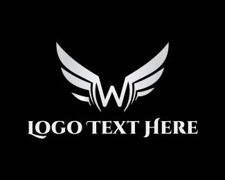 Limousine - Silver Letter W logo design
