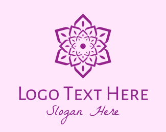 Arabic - Indian Flower Mandala logo design