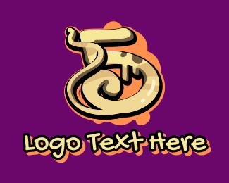 Graffiti   Artist - Graffiti Art Number 5 logo design