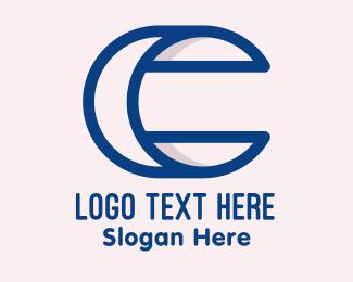 Crescent - Crescent Moon Letter C logo design