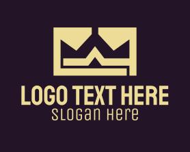 """Gold Crown Monogram"" by SimplePixelSL"