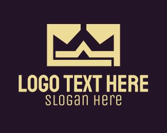 Lawyer - Gold Crown Monogram logo design