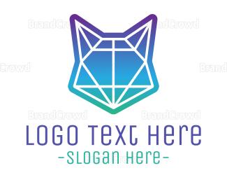 Amazing - Abstract Neon Fox logo design