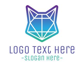 Professional Service - Abstract Neon Fox logo design