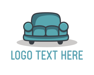 Moving - Car Couch logo design