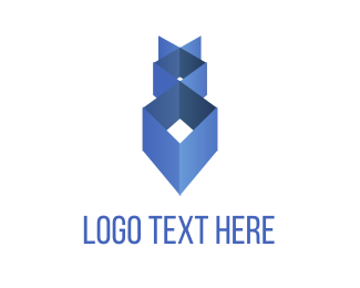 Anime - Blue Geometry logo design