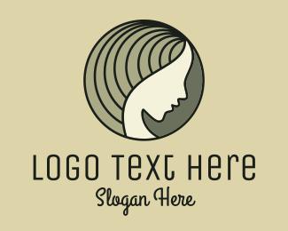 Dermatologist - Green Woman Profile logo design