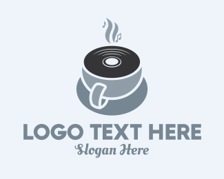 Relaxing - Turntable Coffee Shop logo design