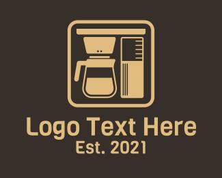 Machine - Coffee Brewer Machine logo design