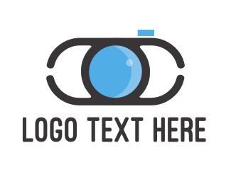 Lens - Blue Lens logo design