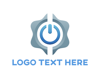 Turn On - Power Button logo design