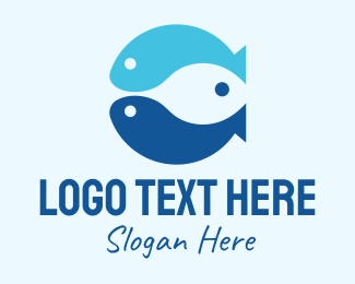 Pacific - Triple Blue Fish logo design