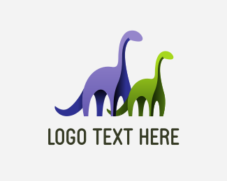 Two - Two Dinosaurs logo design