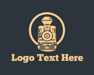 Mechanical - Vintage Train logo design
