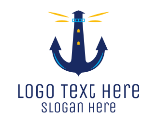 Anchor - Anchor Lighthouse logo design