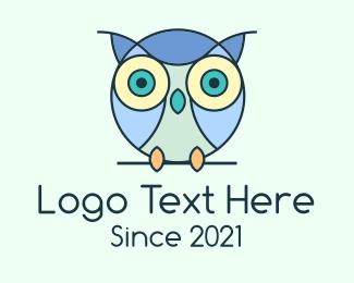 Kids Apparel - Cute Baby Owl logo design