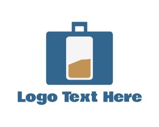 Charger - Bag Battery logo design