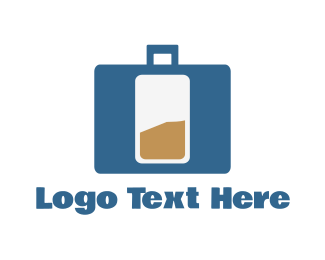 Suitcase - Bag Battery logo design