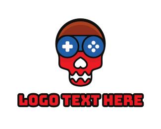 Crypt - Skull Gaming Controller logo design