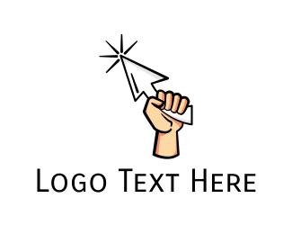 Search Engine - Fist Cursor logo design