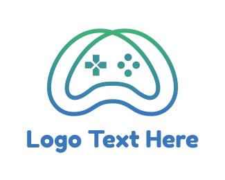 Hobby - Gradient Infinity Controller logo design