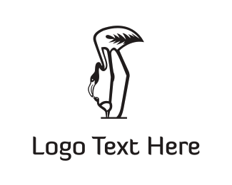 Mother - Mother Flamingo  logo design