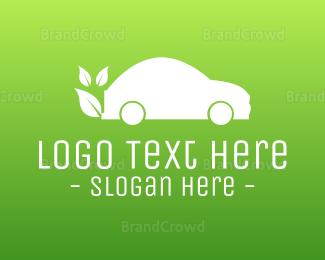 Eco-friendly - Green Eco Vehicle logo design
