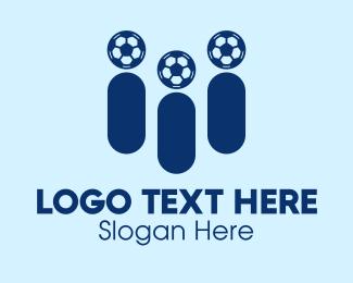 Sports Broadcast - Soccer Sports Fans logo design