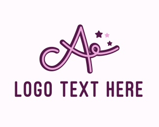 Acting - Star Letter A logo design