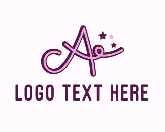 Letter A - Star Letter A logo design