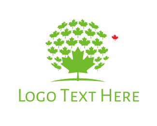 Ontario - Maple Leaves logo design