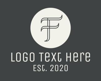 Typography - Elegant Gray Letter F logo design