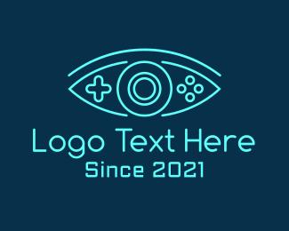 Controller Pad - Eye Game Console logo design